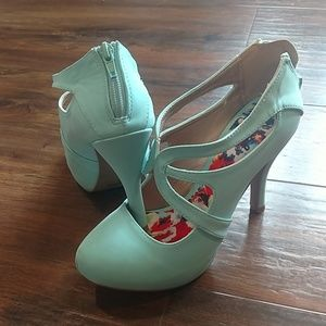 Shoes - Turquoise Heels